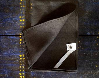 Tea towel for kitchen - linen black tea towels - modern towel