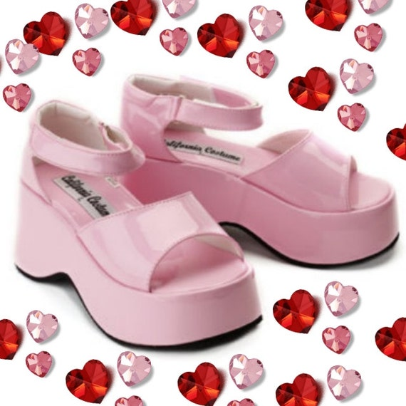kawaii baby pink platform sandals shoes size by