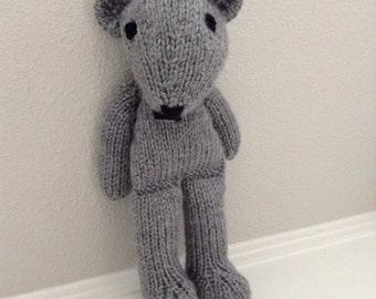 Stuffed Animal - Teddy Bear - Knitted Teddy Bear - Handmade Toy - Soft Toy - Stuffed Toy