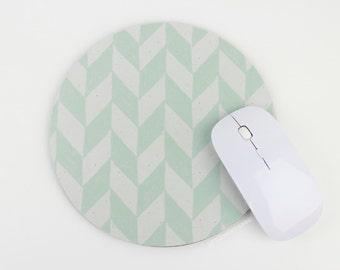 Chevron Mouse Pad / Mint Green Mousepad