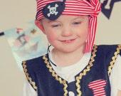 Pirate Costume, Boy Pirate, Captain Hook, Pirate, Pirate Vest, Pirate Party, Baby Boy Pirate, Pirate Scarf, Pirate Birthday, Pirate Set