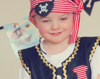 Pirate Costume, Boy Pirate, Captain Hook, Pirate, Pirate Vest, Pirate Party, Baby Boy Pirate, Pirate Scarf, Pirate Birthday, Pirate Set