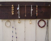 Jewelry Organizer Rustic Jewelry Holder Craft Organizer Wooden Pallet Jewelry Holder Key Rack Bracelet Bar Hooks