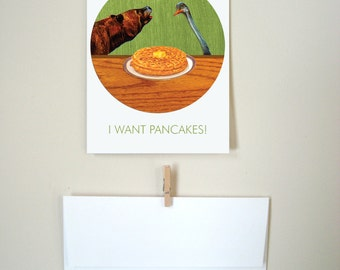 I Want Pancakes Greeting Card - Package of 5