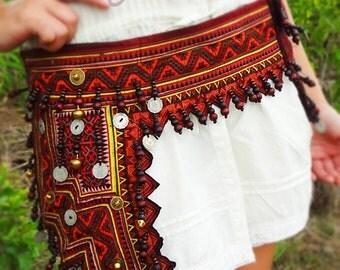 Belt Bag, Hmong Belt Bag, Hmong Bag, Hip Bag, Belt Bags, Tribal Belt, Belt, Ethnic Belt, Ethnic Belts, Tribal Belts, Fanny Packs, Hippie Bag
