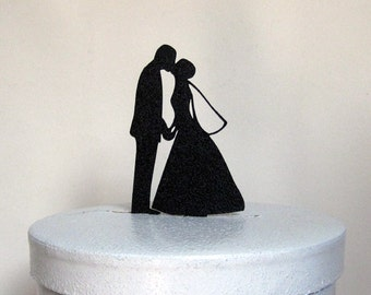 Wedding Cake Topper - Bride and Groom Wedding silhouette