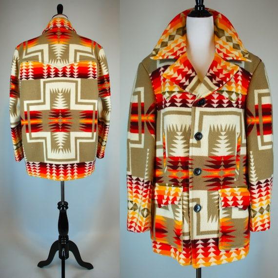 Reserved Pendleton Indian Blanket Jacket Vintage 1970s