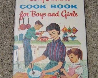 Vintage Betty Crocker's Cook Book for Boys and Girls 1957 First Edition Sixth Printing