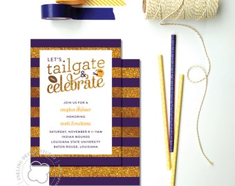 Tailgate Party Invitation // LSU // Tigers