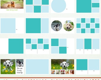 """16 Digital Scrapbook Templates - 6"""" x 4"""" Photoshop & Elements - Personal and Commercial G7800"""