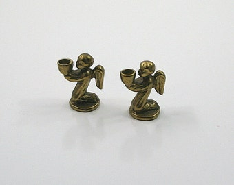 Petite Brass Angel Candle Holders