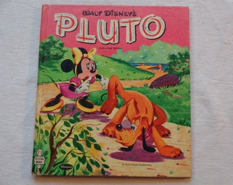 "Vintage 60s Disney Whitman Tell-A-Tale Book: ""Walt Disney's Pluto"" Story by Revena, Pictures by the Walt Disney Studio."