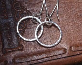 sterling silver hoop earrings, hoops, summer holiday jewellery, ARC Jewellery, handmade, silver rings.