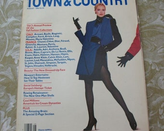 Vintage Magazine August 1982 Town and Country Luxury Fashion