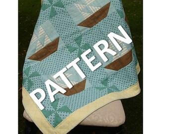 Pattern - Crib Size Quilt - Sailboats at Sea
