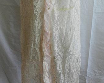 Vintage Lacey Lingerie Short Robe