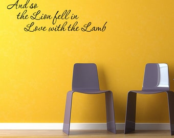 wall quotes the lion and lamb