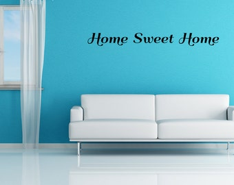 Home Sweet Home Vinyl Wall Decal Quotes Home Sticker Decor (JR238)