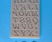 Alphabet A-Z Food Grade Silicone Mold for Fondant, Chocolate, Sugar Craft, Cake Topper