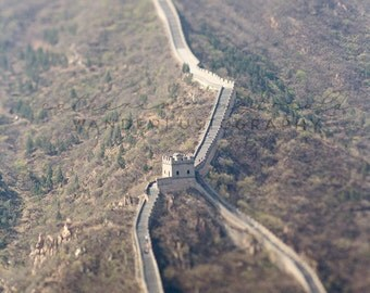 Toy Wall - Photographic Print - Great Wall of China, wanderlust,  antique, travel, Art, wanderlust, Decor, Photography, asia, asian,