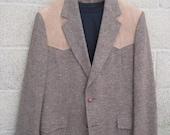 Vintage PENDLETON Western Style Tweed Jacket / Blazer / Sport Coat