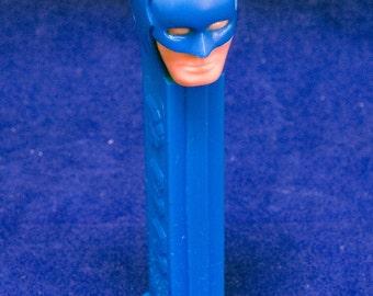 Vintage Blue Plastic Batman PEZ Dispenser