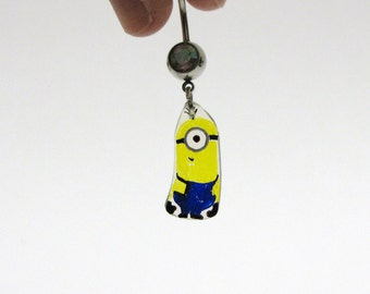 Despicable me one-eyed minion belly ring - eco friendly