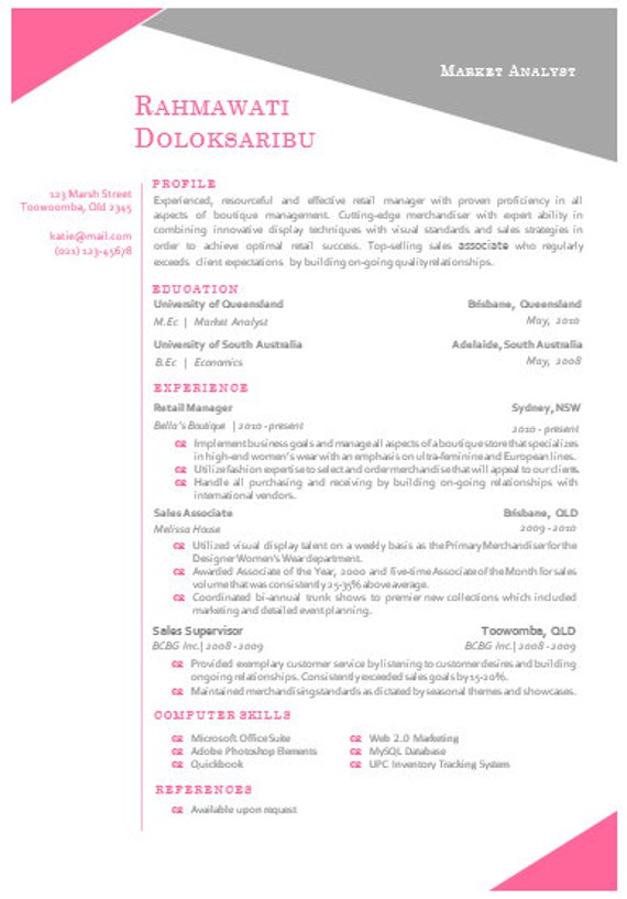 modern microsoft word resume template rahmawat by inkpower