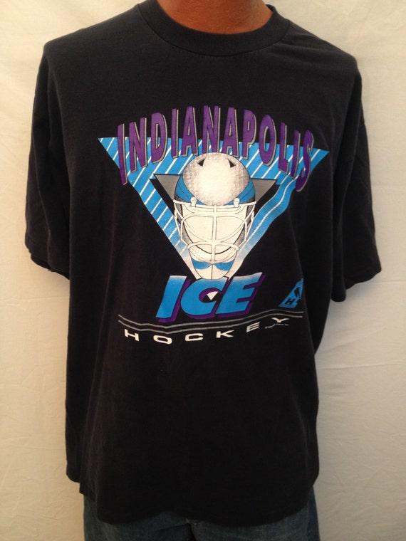 Vintage Indianapolis Ice Hockey T Shirt Size Xxl