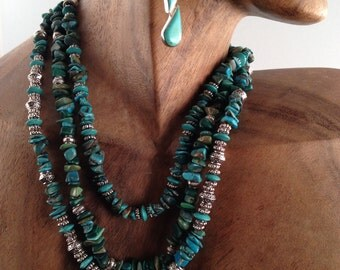 Genuine turquoise necklaces- one, two or three- your choice- your look!