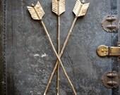 Set of 3 Natural Birch Bark Arrows Decorative Rustic Faux Archery Light wood Centerpiece accent