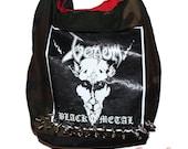 Venom - Black Metal - Cronos -NWOBHM - Black/Speed Metal - Camouflage spiked tote bag