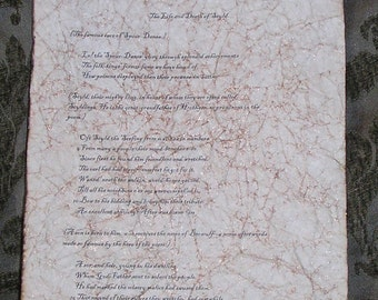 Beowulf - Antiqued First Page
