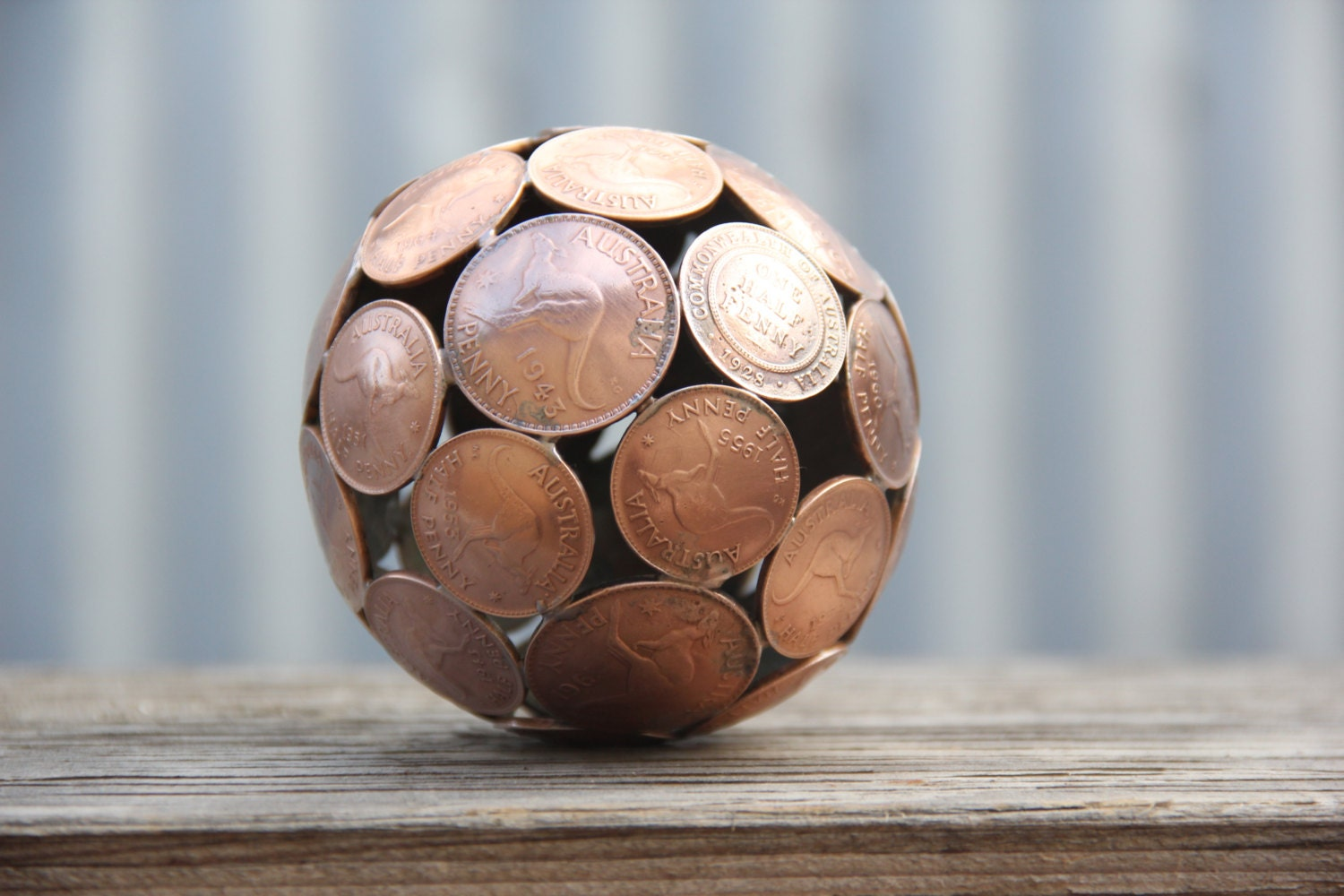 Pierogi christmas ornament - Mini Mixed Penny Ball Polished 8 5 Cm Penny Sphere Metal Sculpture Ornament