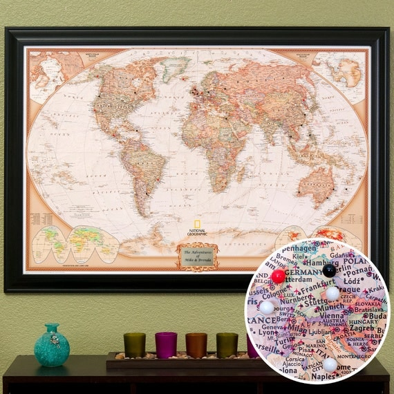 Personalized Executive World Travel Map with by ...