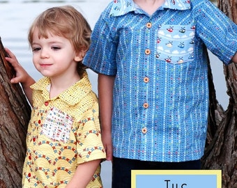Pattern - The Everyday Camp Shirt  Paper Sewing Pattern by Fishsticks Designs
