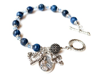Saint Maximilian Kolbe Rosary Bracelet, Patron Saint for Those Struggling with Addiction, Catholic Jewelry, Addiction Recovery Gifts