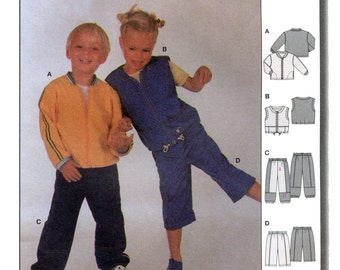 Burda Children's Jacket, Vest & Pants in 2 Lengths sizes 2-6 Sewing Pattern # 9936