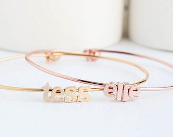 Name bracelet, Name Jewellery, Name bangle, Personalized Gift, Bangles, Rose Gold bangles, Silver Bangles, Gold Bangles, Rose Gold Bracelet