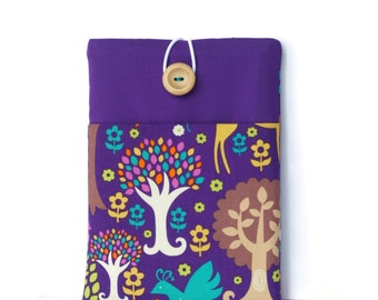 Kindle Cover, Kindle Paperwhite, Kindle Fire Case, Kindle Sleeve - Purple Trees