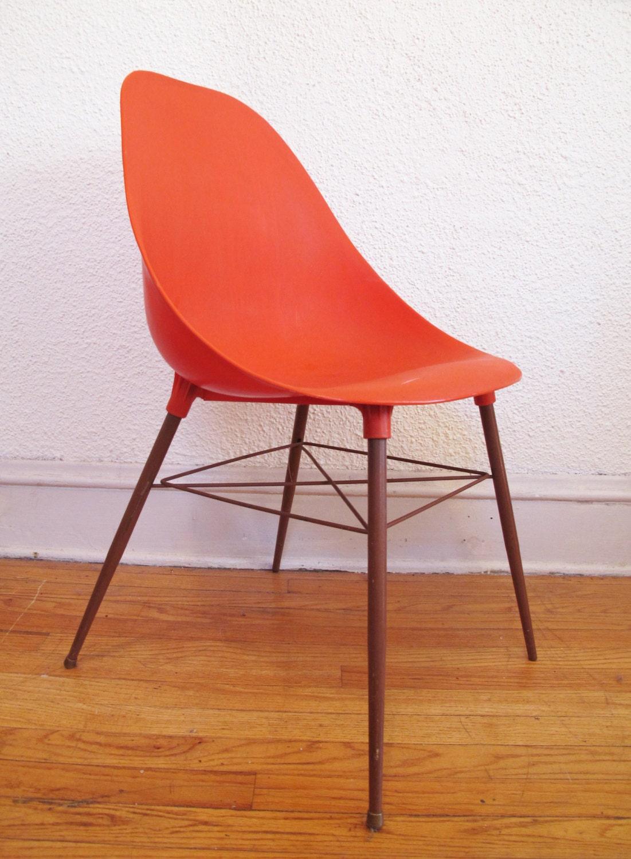 Sam Avedon Alladin Rare Orange Mid Century Modern Eames