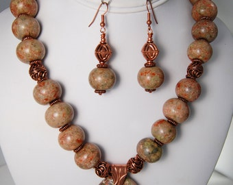 Single Strand Ocean Jasper Necklace Set
