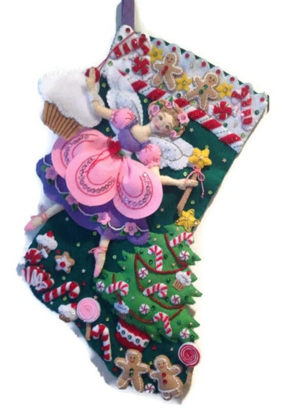Bucilla Sugar Plum Fairy Christmas Stocking - Felt