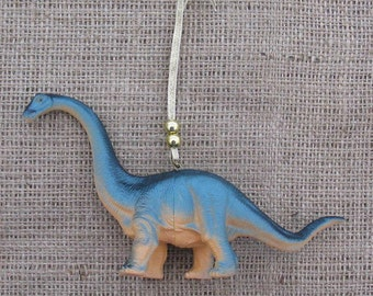 Kitsch Christmas tree ornament, blue dinosaur, alternative Christmas, retro Christmas, dinosaur ornament, blue ornament, geekery, quirky fun