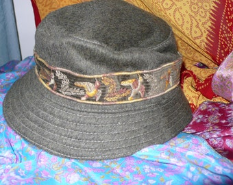 Classic French Wool Soft-Sided Travel Outdoorsman or Woman Stingy Brim Hat by L'Esquimau