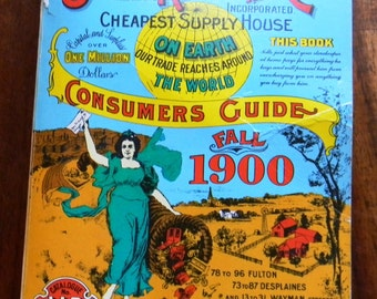 Vintage Sears, Roebuck and Co. Consumers Guide Fall 1900, reprint from 1970