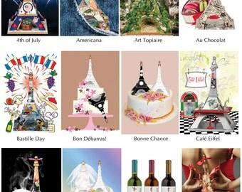 Eiffel Tower - 12x16 canvas photo print - choice of designs (2 Chateau Bidaine designs)
