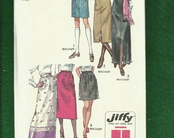 Vintage 1970 Simplicity 9099 Straight Skirts in Three Lengths Size 10 UNCUT