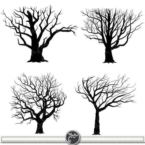 clip art tree silhouette - photo #9