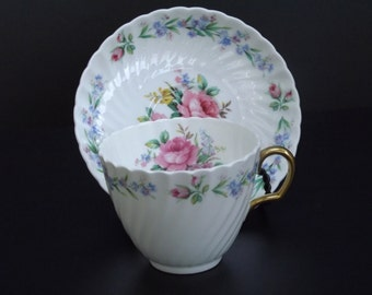 Vintage, Adderley Rosemary Bone China teacup set
